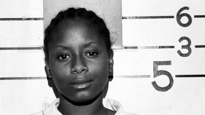 In this May 29, 1985, photo provided by the Lake County, Ind., Police Department is Paula Cooper who was sentenced to death when she was 15 after stabbing a 78-year-old Bible school teacher 33 times during a 1985 robbery in Gary, Ind. A Department of Correction spokesman says Cooper, now 43, was released from an Indiana prison Monday, June 17, 2013. A state court overturned her death sentence in 1988. (AP Photo/Lake County Police Depatmrnt via The Indianapolis Star)