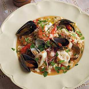 Seafood and Vegetable Risotto