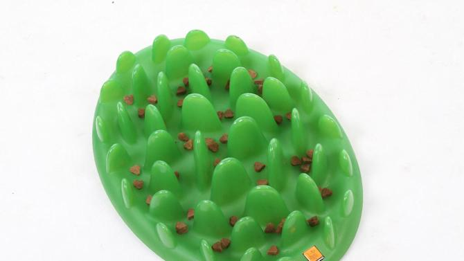 This product publicity photo provided by The Company of Animals, LLC shows a GREEN interactive feeder. Treat mazes for dogs and cats make it a challenge to extricate the treats, engaging the animal's mind and making the reward more satisfying (www.companyofanimals.co.uk). (AP Photo/ The Company of Animals, LLC)