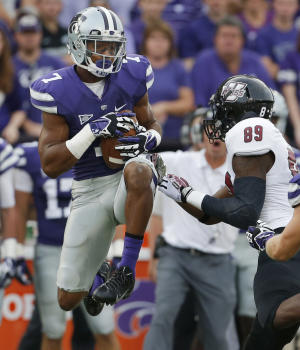 Hubert, Kansas State run over UMass for 37-7 win