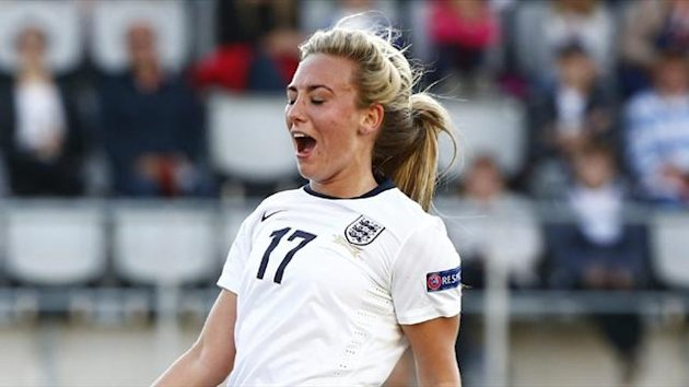 England's Toni Duggan during the 1-1 Women's Euro draw with Russia (AFP)