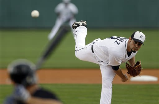 Cabrera homers, Tigers top Pettitte, Yankees 10-6