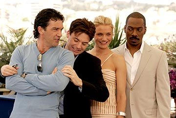 Antonio Banderas, Mike Myers, Cameron Diaz and Eddie Murphy