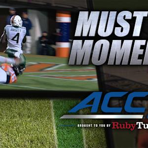 Miami's Brad Kaaya Perfect TD Pass | ACC Must See Moment