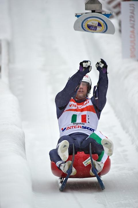 Italy's Christian Oberstolz Hits AFP/Getty Images