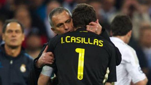 Casillas and Mourinho
