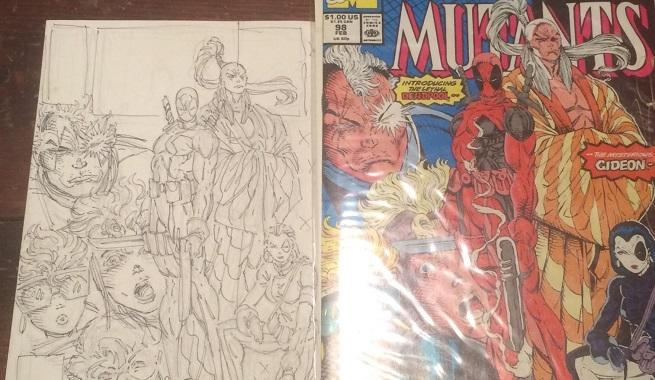 First Deadpool Preliminary Cover Art Up For Auction