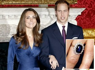 The royal couple and the ring that rocked the world. (AFP/Getty)