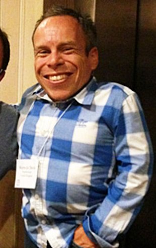 Actor Warwick Davis from such hit films as 'Willow', 'Return of the Jedi', and 'Harry Potter'.