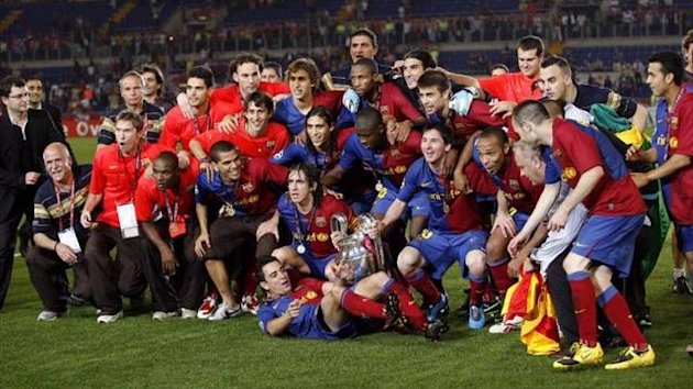 Barcelona celebrate winning La Liga (Imago)