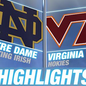 Notre Dame vs Virginia Tech | ACC Men's Basketball Highlights