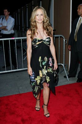 Holly Hunter at the New York premiere of Revolution Studio's Little Black Book