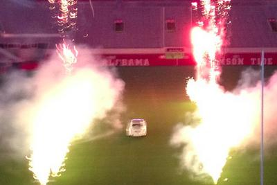 Rolls-Royce on the field + 'Sweet Home Alabama' = Nick Saban's daughter's wedding