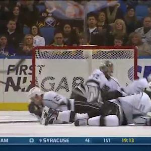 Slava Voynov plays goalie on the PP
