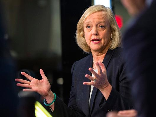 HP Enterprise CEO Meg Whitman got a $2.5 million pay cut last year