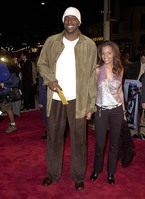 John Salley and his gal at the Westwood premiere of Warner Brothers' Exit Wounds