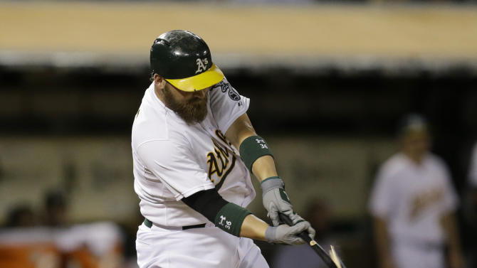 AP Sources: A's trade catcher Norris to Padres