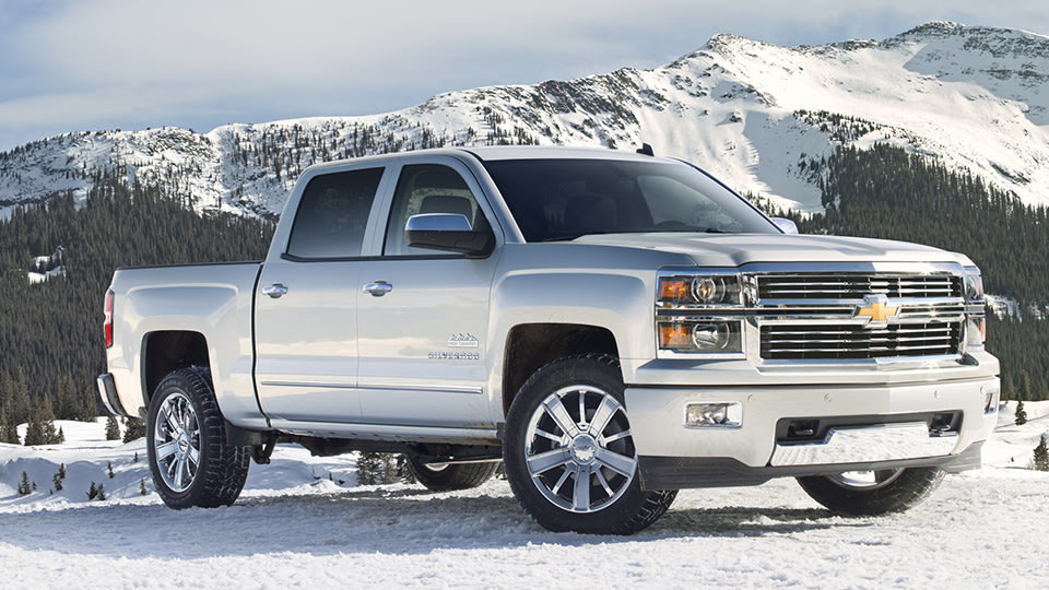 struck general motors which revealed the 2014 chevrolet silverado high