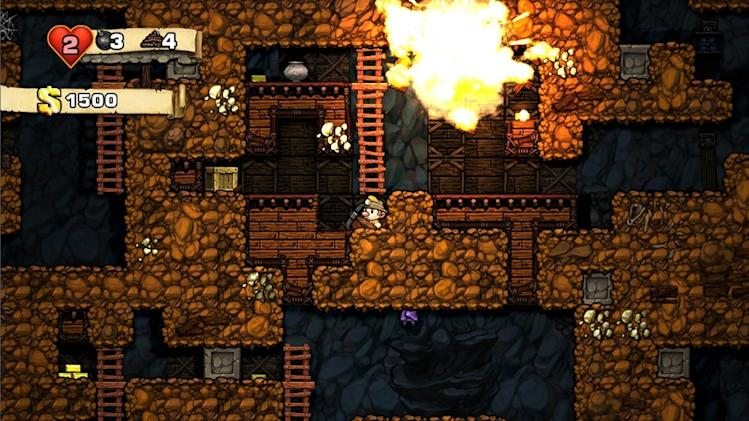"This video game image released by Mossmouth shows a scene from ""Spelunky."" (AP Photo/Mossmouth)"