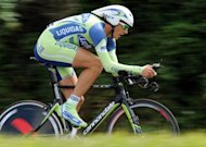 Italy's Filippo Pozzato, seen here in 2008, who fractured his right wrist while causing a crash at the end of stage nine, did not start the 186km 10th stage from Civitavecchia