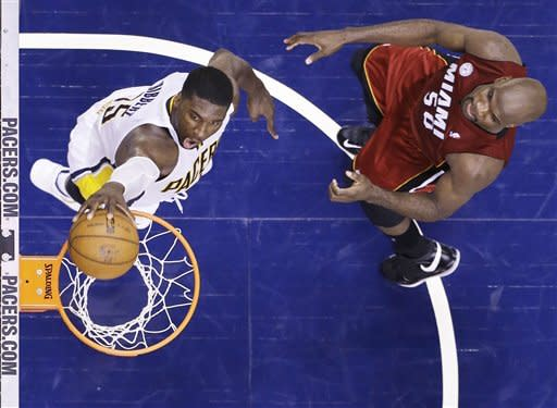 Pacers even up series with 91-77 win over Heat