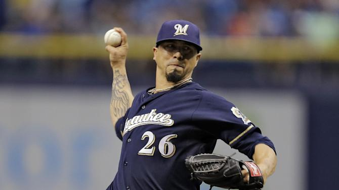 Odorizzi goes 7 strong, Rays beat Brewers 2-1