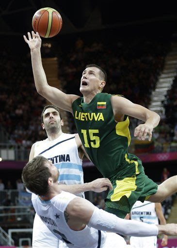 Argentina routs Lithuania 102-79 in Olympic hoops