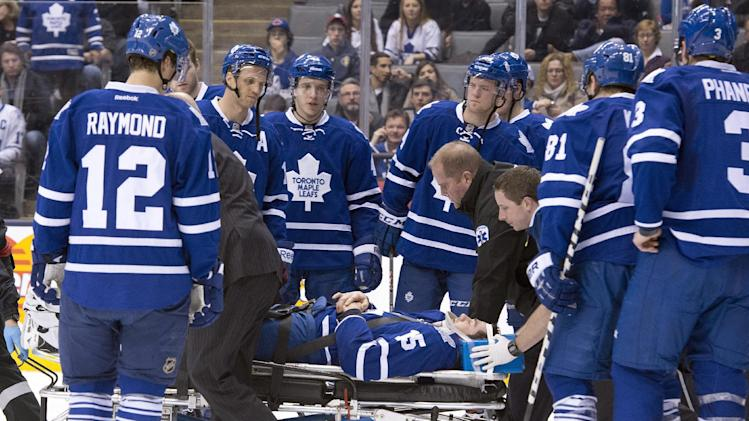 Toronto's Ranger has sore neck, no concussion