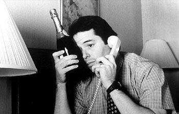 Jim McAllister ( Matthew Broderick ) on the phone in Election