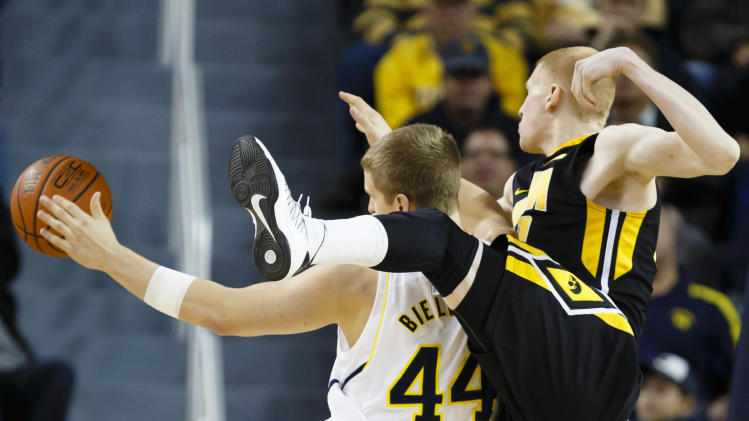 NCAA Basketball: Iowa at Michigan