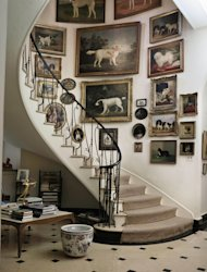 FILE - This undated file photo provided by Sotheby's shows the staircase at Brooke Astor's Westchester estate, Holly Hill, in Briarcliff Manor, New York. On Sept. 24-25, 2012, Sotheby's New York will auction some 800 of the late philanthropist's personal items from her Park Avenue duplex and the stone manor in Westchester. (AP Photo/Sotheby's, File)