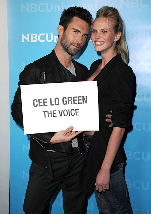 Adam Levine (The Voice) and guest attend the 2012 NBC Universal Winter TCA All-Star Party at The Athenaeum on January 6, 2012 in Pasadena, California. 