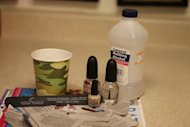 All you need for newsprint nail art.