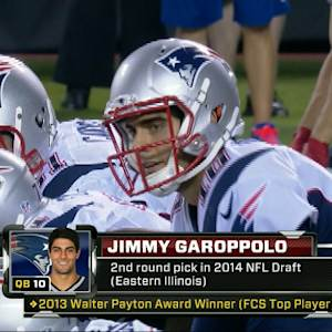 New England Patriots quarterback Jimmy Garoppolo's first NFL drive