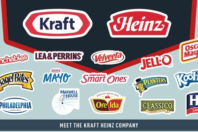Kraft and Heinz are merging to form a food superconglomerate