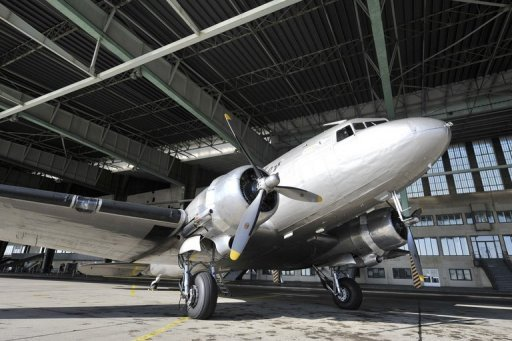 <p>A vintage Douglas DC-3 aircraft pictured at Tempelhof airport in Berlin. Seven people were killed Thursday when a military plane crashed during takeoff in the Mauritanian capital Nouakchott, an army source told AFP.</p>
