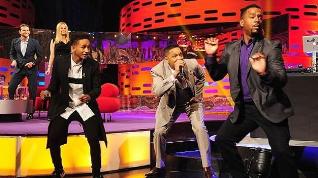 Jaden Smith, Will Smith and Alfonso Ribeiro on 'The Graham Norton Show' May 24, 2013 -- BBC