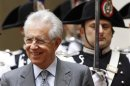 Italy&#039;s Prime Minister Monti looks on before a meeting with Switzerland&#039;s President Widmer-Schlumpf in Rome