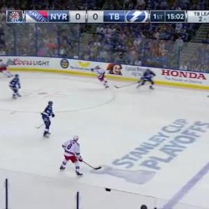 Ben Bishop Save on Keith Yandle (04:59/1st)