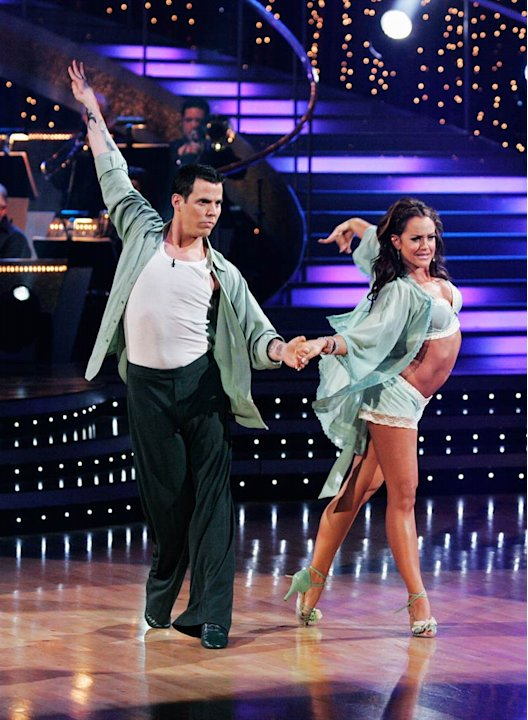 Steve-O and Lacey Schwimmer perform the Rumba to &quot;Fall for You&quot; by Secondhand Serenade on &quot;Dancing with the Stars.&quot; 