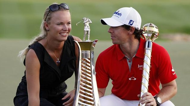 Rory McIlroy and girlfriend Caroline Wozniacki (Reuters)