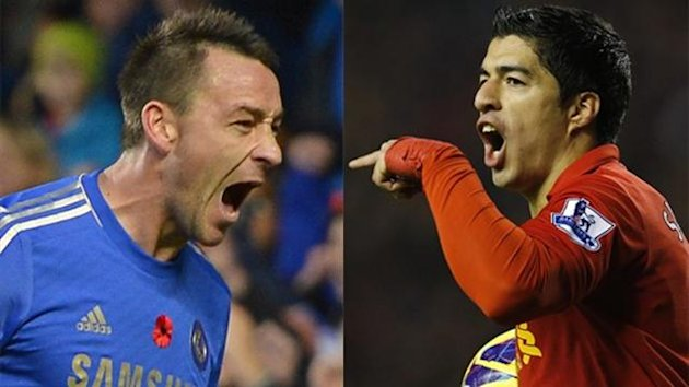 Chelsea's John Terry and Liverpool's Luis Suarez (Reuters)