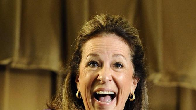 Democratic candidate Elizabeth Colbert Busch smiles after being introduced during the 1st Congressional District debate on Monday, April 29, 2013 in Charleston S.C. (AP Photo/Rainier Ehrhardt)