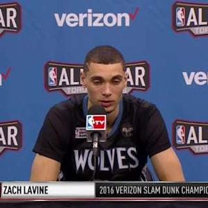 Zach LaVine Speaks After Winning The Dunk Contest