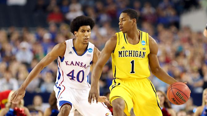 NCAA Basketball: NCAA Tournament-South Regional-Michigan vs Kansas