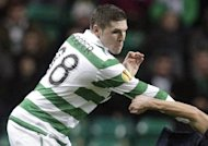 Celtic's English striker Gary Hooper, pictured during a game in November 2011. Champions Celtic ended their Scottish Premier League campaign on a high as Hooper scored all the goals in a 5-0 win over a make-shift Hearts side