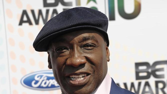 "FILE - This June 27, 2010 file photo shows actor Michael Clarke Duncan at the BET Awards in Los Angeles. Publicist Joy Fehily said in a brief email statement Monday, Aug. 6, 2012, that the 54-year-old actor ""was just moved from the intensive care unit, but remains hospitalized"" following his July 13 heart attack. (AP Photo/Dan Steinberg, file)"