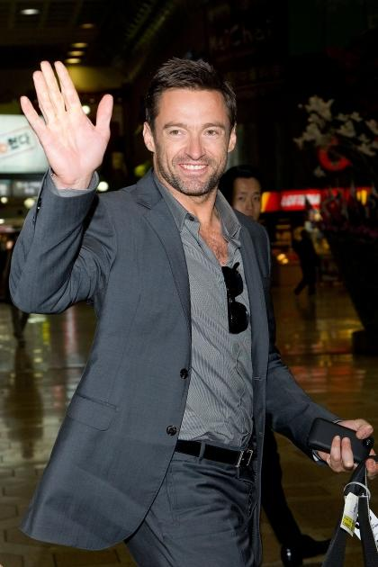 Hugh Jackman is seen at Gimpo International Airport in Seoul, South Korea on November 26, 2012  -- Getty Premium