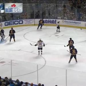 Jhonas Enroth Save on Joe Morrow (01:52/3rd)