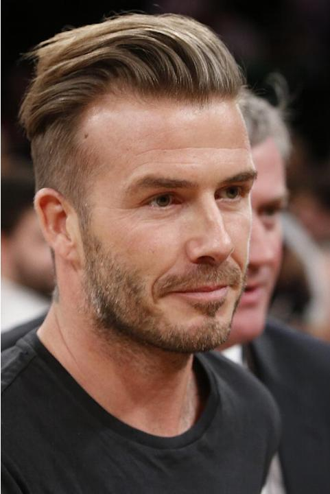 Soccer star David Beckham attends an NBA basketball game between the Miami Heat and the New York Knicks Saturday, Feb. 1, 2014, in New York.  Miami won 106-91